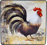 Certified International Vintage Rooster Square Platter
