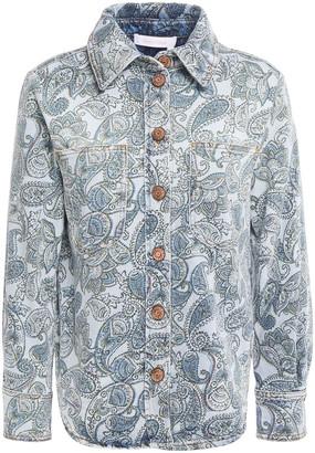 See by Chloe Printed Denim Shirt