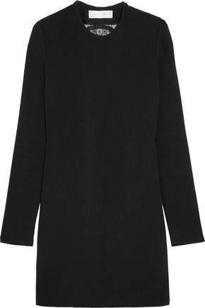 Victoria Beckham Lace-Paneled Cady Mini Dress