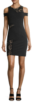 Nicole Miller Kaitlin Jersey Lace Panel Sheath Dress