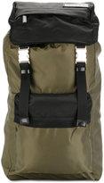 Marni dual colour nylon backpack - men - Cotton/Leather/Acrylic/Polyamide - One Size