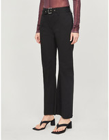 we11done WE11 DONE Cropped flared mid-rise cotton trousers