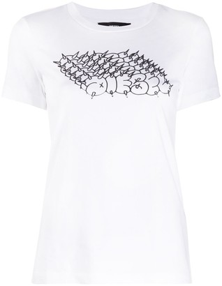 Diesel spiked logo print T-shirt