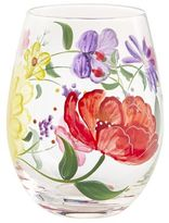 Pier 1 Imports Spring Happy Floral Painted Stemless Wine Glass