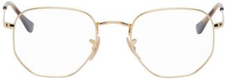 Ray-Ban Gold Hexagonal Glasses