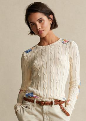 Ralph Lauren Patchwork Cable-Knit Sweater