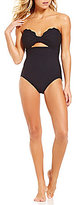 Kate Spade Marina Piccola Scalloped Cut-Out Bandeau One-Piece