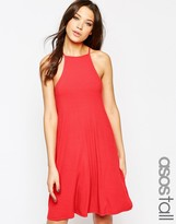 ASOS Tall ASOS TALL Strappy Swing Dress In Rib