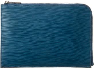Louis Vuitton Blue Epi Leather Pochette Jour Pm
