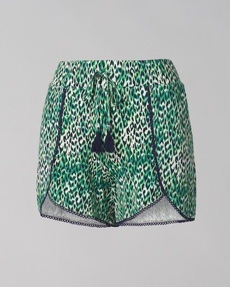 Soma Intimates Cool Nights Pom Trim Tulip Pajama Shorts