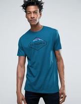 Patagonia Fitz Roy Crest Logo T-shirt In Blue Marl