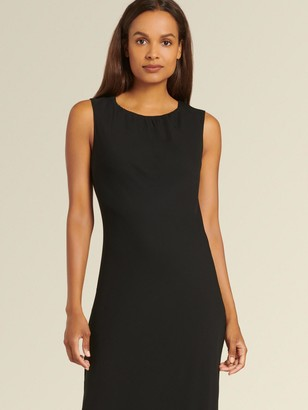 DKNY Donna Karan Women's Sleeveless Dress With Waved Hem - Black - Size 12