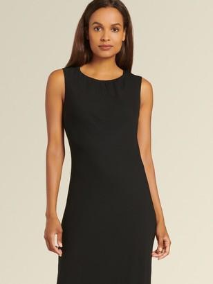 DKNY Donna Karan Women's Sleeveless Dress With Waved Hem - Black - Size 8