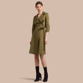 Burberry Oversize Lapel Stretch Cotton Trench Dress