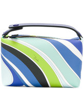 Emilio Pucci stripe printed make-up bag - women - Leather - One Size