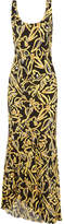 Diane von Furstenberg Printed Silk Maxi Dress - Yellow