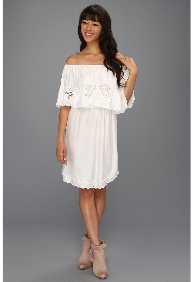 Free People Cut Out Dress (White) - Apparel