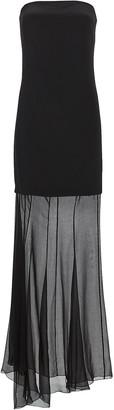 Cushnie Tiered Strapless Silk Crepe Gown