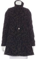 Opening Ceremony Wool Animal Print Coat