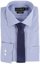 Lauren Ralph Lauren Microcheck Spread Collar Slim Button Down Shirt