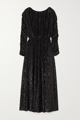 Saint Laurent Sequined Jersey Maxi Dress - Black