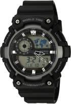 Casio Men's 'Super Illuminator' Quartz Resin Casual Watch, Color: Black (Model: AEQ200-1AV)