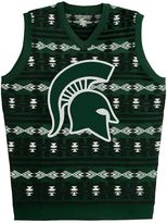 Men's Michigan State Spartans Ugly Sweater Vest