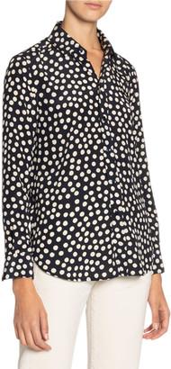 Saint Laurent Polka-Dotted Long-Sleeve Shirt