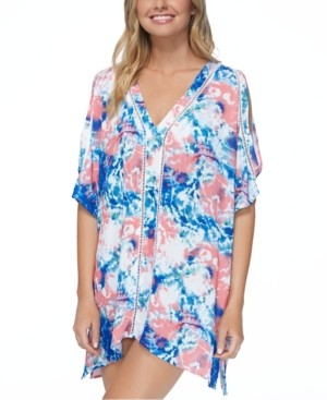 Raisins Juniors' Torquay Printed Caftan Cover-Up Women's Swimsuit