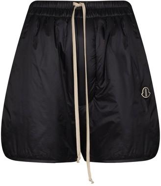 Moncler + Rick Owens Logo-Patch Shorts