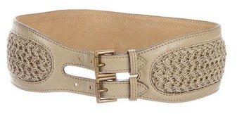 Alaia Woven Leather Waist Belt