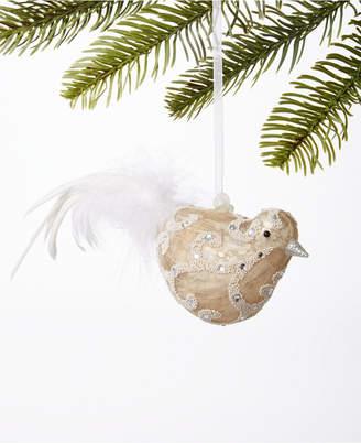 Holiday Lane Crystal Elegance Glass Bird Ornament