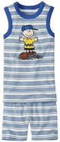 Peanuts Kids Tank John Pajamas In Organic Cotton