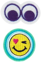 Crazy 8 Eyes Emoji Barrettes 2-Pack