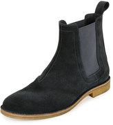 Bottega Veneta Aussie Suede Chelsea Boot, Gray