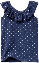 Poof Mini Star Print Ruffle Off-the-Shoulder Top (Big Girls)