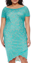 Bisou Bisou Off-The-Shoulder Lace Sheath Dress - Plus