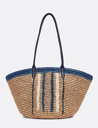 Draper James Crochet Raffia Tote