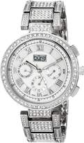 Burgi Women's BUR123SS Analog Display Swiss Quartz Silver Watch