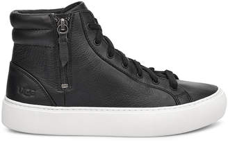 Women's Olli High Top Sneakers Black/white Size 6 Suede From Sole Society