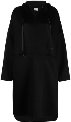 Totême Pullover Hooded Cashmere-Blend Coat