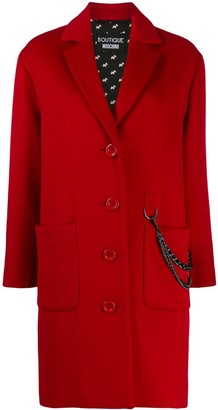 Moschino oversized button chain detail coat