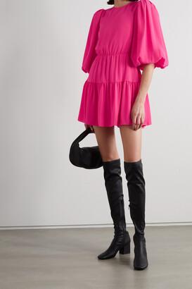 Alice + Olivia - Shayla Tiered Crepe Mini Dress - Pink