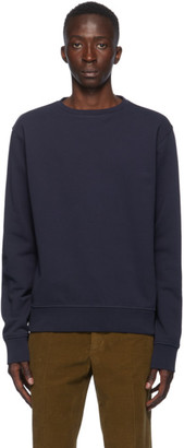 Maison Margiela Navy Elbow Patch Crewneck Sweatshirt