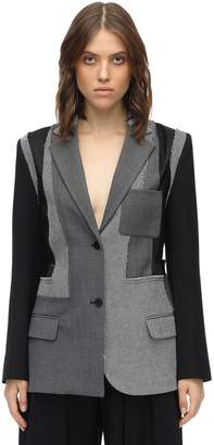J.W.Anderson Tailored Patchwork Wool Crepe Jacket