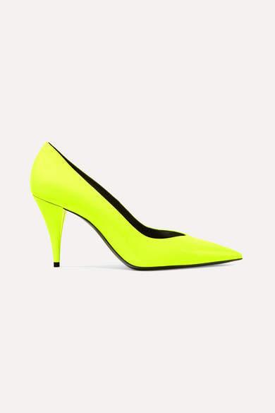 8e98512943c Kiki Neon Patent-leather Pumps - Yellow
