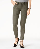 Flying Monkey Forest Green Wash Moto Skinny Jeans