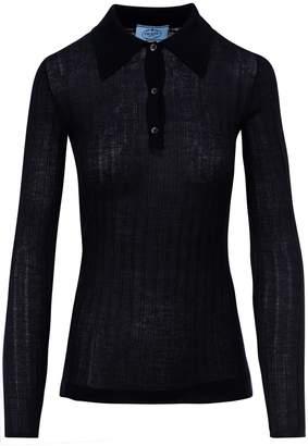 Prada Knitted Polo Shirt