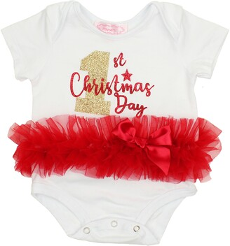 Popatu 1st Christmas Day Tutu Bodysuit