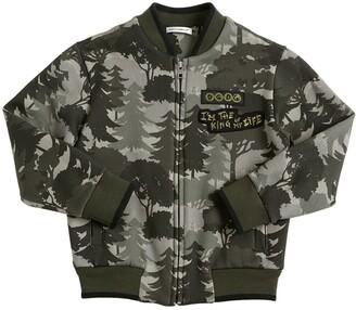 Dolce & Gabbana Printed Cotton Zip-up Sweatshirt